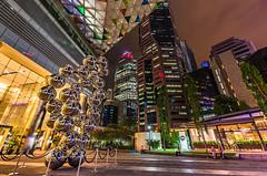 Singapur Downtown (Oliver H16) Tags: singapur asien nikon d7000 wolken wasser city nachtaufnahme nightshot langzeitbelichtung night longexposure skyline chinatown downtown panorama singapurflyer marinabaysands helixbrücke gardensbythebay esplanade sunteccity singapurriver singapoure