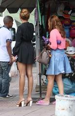 9 (SadCire) Tags: legs thigh calves heels candid sexy girl street minidress miniskirt asian woman frau femme mujer