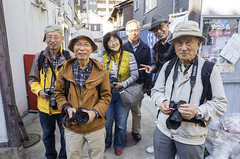 New friends (Eric Flexyourhead) Tags: nakazakicho 中崎町 kitaku 北区 osaka osakashi 大阪市 kansai 関西地方 japan 日本 city urban people photographers japanese friends smile smiles smiling happy friendly ricohgr