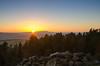 Sunset over Pendle Hill (andythomas390) Tags: pendlehill embsayreservoir dusk nikon d7000 18200mm