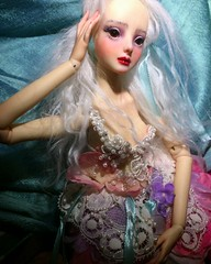 Beading Beryl's Bodice flower dress (bolderthanbrass) Tags: resin bjd beading beautiful enchanteddoll embroidered