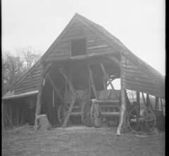 img283 (foundin_a_attic) Tags: barn sack grass weel iron cart hourse old aged vintage