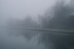 Fog #3 (pi3rreo) Tags: brouillard fog campagne landscape fujifilm fujinon xe2 extérieur eau water arbres tree nord flou