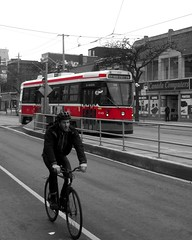 Urban travels (siong.lewis) Tags: urbanphotography urbanlife urban citylife cityscape streetscape streetcar bicycle toronto publictransportation