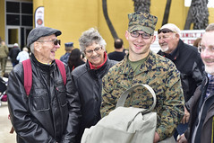 First meet (Jon_Marshall) Tags: scott jon grandpabill bill marines marine bootcamp graduation marinecorpsrecruitdepot sandiego mcrd