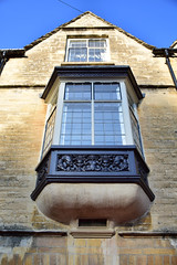 Oriel window with carved timber apron (suzigun) Tags: cirencester gloucestershire listed gradeiilisted window orielwindow