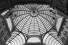 Glass dome and wings (PL-Vision) Tags: galleriaumberto umberto napoli naples italy italia details glass architecture symmetry bnw noiretblanc