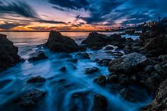 Elemental Nexus (mark5photographic) Tags: sea seascapes seascape seashore sunset beach blue ocean outdoors coast long water waves california clouds