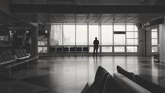 Waiting *explored* (sinnesblicke) Tags: munich münchen airport flughafen architecture blackandwhite indoor huaweip9lite