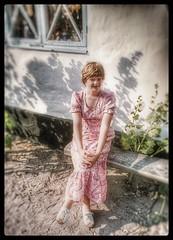 Wife in early seventies... (iEagle2) Tags: analog analogfilm analogue colorslide ehefrau female femme frau film jungefrau minolta sweden summer srt101 scania skåne woman wife seventies