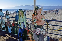 Cutouts (AntyDiluvian) Tags: california losangeles la santamonica beach santamonicabeach santamonicastatebeach santamonicapier cutouts celebritycutouts photoops