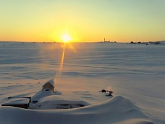 IMG_1204_1 (savillent) Tags: tuktoyaktuk northwest territories canada landscape sunset sun snow arctic north climate environment colors travel places mars canon point shoot frozen cold march 2017