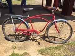 Meet Barney (The Goat Whisperer) Tags: bike bicycle antique schwinn heavy duti