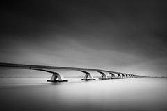 Zeeland bridge # 1 (!FVT!) Tags: longexposure bw black holland netherlands architecture photography blackwhite nikon bridges zeeland weldingglass d3100