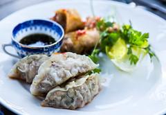 Dumplings (Look at the Birdie!) Tags: chicken dinner asian herbs pork archipelago skarprunmarn