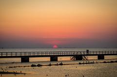 Sunset at the beach (Pingo2002) Tags: sunset sea summer sky sun beach canon skåne sweden 7d sverige malmö 2470