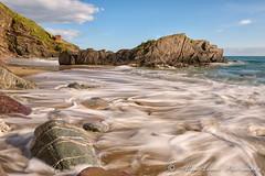 Whitsand Bay #4 (Alan Lomax Photography) Tags: sunset sea seascape rocks cornwall hightide crashingwaves watermovement freathy whitsandsbay