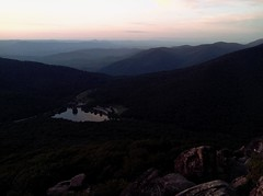 Peaks of Otter From Sharptop (Boldmuffin) Tags: travel sunset lake virginia hike adventure parkway blueridgeparkway sharptop peaksofotter