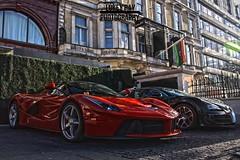 LaFerrari and Veyron (Lukey Rayray) Tags: dynamic fast ferrari knightsbridge million record hybrid bugatti hdr breaker veyron hypercars laferrari