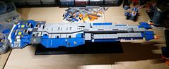Hiigaran Battlecruiser WIP 6 (Rphilo004) Tags: ship lego space spaceship homeworld fleet spacecraft battlecruiser hiigaran shiptember