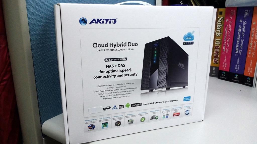 AKiTiO 雲金剛2 3.5吋 USB 3.0 2bay網路磁碟陣列外接盒