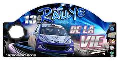 Plaque Rallye de la vie 2015 (rallye85) Tags: auto sport sur rallye vie poir