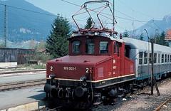 169 003   Oberammergau  22.04.81 (w. + h. brutzer) Tags: analog train germany deutschland nikon eisenbahn railway zug trains db locomotive 169 oberammergau lokomotive e69 elok eisenbahnen eloks webru