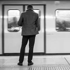 underground (book-forest-er) Tags: vienna people blackandwhite bw underground waiting metro streetphotography ubahn personen stb 2015 schwarzweis sel35f18 ilce6000 sonya6000 icle6000 bookforester