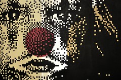 """Je voudrais encore jouer"" Acrilyc on canvas  50x70 cm Krayon (.krayon) Tags: portrait detail painting kid artwork child clown fineart pixel pixelart myart 8bit sadclown canvasart krayon customcanvas"