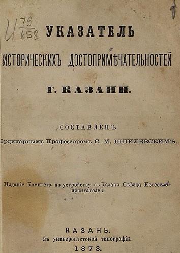 1873. Шпилевский. Достопримечательности Казани ©  Library ABB 2013