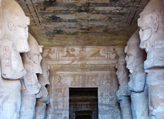 Abu Simbel Temple, Interior Statues and Hallway (shaire productions) Tags: travel building history tourism beauty stone temple photo tour image artistic interior tomb sightseeing egypt picture statues carving hallway unesco worldheritagesite indoors kings photograph historical aswan ra mythology sculptures ramses myth ancientegypt abusimbel worldtravel pharaohs ancientegyptians nubianmonuments egyptandthenile contikiegypt