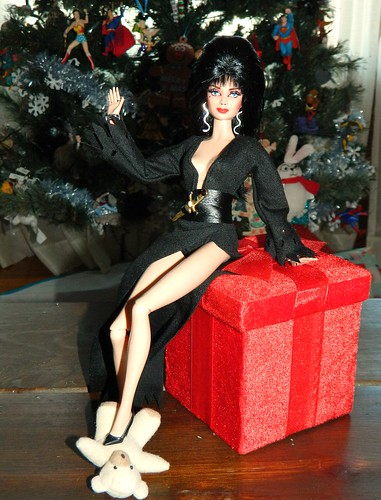 This Christmas Elvira has overcome her fear of cute little teddy ...