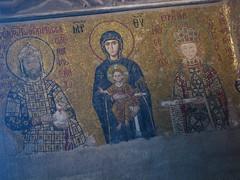 Hagia Sofia Church, begun 532 AD. Comnenus Mosaic (Kevin J. Norman) Tags: hagiasofia istanbul turkey comnenus