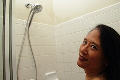 Dianna in the Shower.  DG-79 (The A Eye) Tags: diannamoy model modeling nude nudity naturist asian mature milf shower brunette beauty canon60d