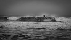 Surfin'BZH (Frédéric Pactat) Tags: nikon d750 nikkor fx 85mm 85 afs f14 d 750 surf bretagne bzh winter waves black white bw noir et blanc vague sport explore
