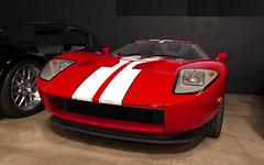Looks fast..is fast....Ford GT. (Bernard Spragg) Tags: cars fast lasvegas lumixfz1000 speed racecar red museum shellby sportscars guess geotagged
