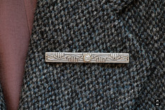 Art Deco/ Edwardian white gold and diamond brooch (Canadian Pacific) Tags: pin brooch jewels jewellery 18k white gold diamond artdeco aimg5715 harris tweed jacket coat sport sports blazer