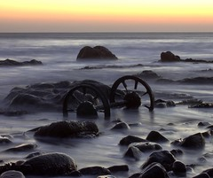 Chemical Beach Sunrise (2) (craigdwilkinson) Tags: dawdoncolliery wheels wagonwheels chemicalbeach seaham nosespoint sunrise infinitexposure