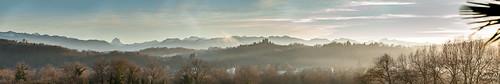 Panoramique depuis le boulevard des Pyrénées Pau
