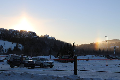 Early morning sundog at Tremblant