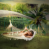 Day off (jaci XIII) Tags: diadefolga jardim palmeira rede pessoa menino dayoff garden palm tree boy person network net