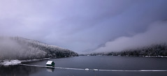 Cleveland Damn in the Fog (Romain Collet) Tags: cleveland dam north shore vancouver bc british columbia canada freezing snow cold sky fog cloud mountain trees water winter nikon d7100 nature panorama landscape paysage