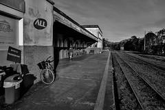 D71_4767z-1 (A. Neto) Tags: d7100 nikon nikond7100 sigmadc18250macrohsmos sigma blackwhite bw monochrome trainstation railroad bicycle old decadence morretes