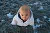 Blue eyes (Graham Gibson) Tags: sony a7rii sel28f20 28mm f2 282 snow icy lake tahoe snowsuit baby toddler