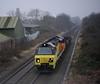 70-807-6M50-Black-Pad-footbridge-Coventry-18-1-2017 (D1021) Tags: class70 70807 colas 6m50 engineers departmental blackpad threespiresjunction coventry westmidlands nikond700 d700