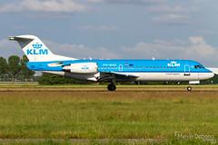 KLM Cityhopper Fokker 70     PH-WXD     Amsterdam Schiphol - EHAM (Melvin Debono) Tags: klm cityhopper fokker 70   phwxd amsterdam schiphol eham melvin debono spotting canon 7d 600d plane planes polderbaan netherlands holland airport airplane aviation aircraft
