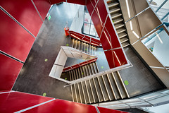 Redvolution (Sean Batten) Tags: bristol england unitedkingdom gb mshed red spiral nikon d800 1424 staircase city urban museum steps architecture