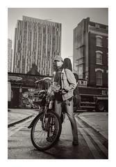 (Jeffhubbard) Tags: city blackandwhite bw london bike cyclist vehicle spitalfields londoncity eastend jeffhubbardphotography