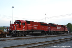 CP 4653 EMD GP40-2 & CP 6249 EMD SD60 (258) (Trucks, Buses, & Trains by granitefan713) Tags: railroad yard canadianpacific cp freighttrain emd gp402 sd60 electromotive mixedfreight emdsd60 emdgp402 sunburysub cpsunburysub
