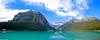 Panoramica Louise Lake (CANNIVALS) Tags: travel viaje mountain lake canada color water colors trekking 35mm landscape lago agua sony paisaje alberta panoramica rockymountain banff fullframe montaña aventura rocosas aventure turquesa ilce louiselake 7r lasrocosas lagolouise pnbanff